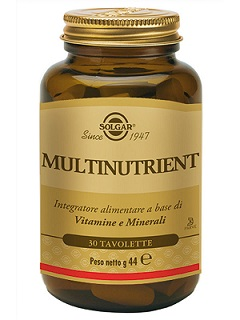 MULTINUTRIENT SOLGAR 30TAV