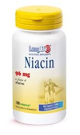 LONGLIFE NIACIN 96MG 100CPR