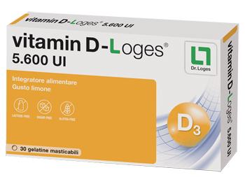 VITAMIN D-LOGES 30 GELATINE MASTICABILI GUSTO LIMONE 42 G