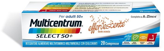 MULTICENTRUM SELECT EFFERVESCENTE 20 COMPRESSE